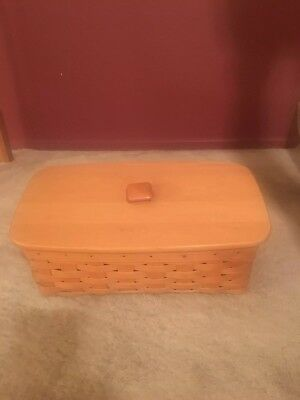 Longaberger Slanted Vanity Basket With 2 Stackable Protector Trays