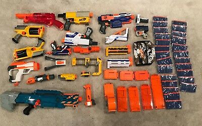 NERF dart gun lot collection
