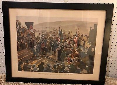 Framed Union Pacific The Driving Of The Golden Spike From Cecil B Demilles Movie
