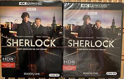 New Sherlock Season One 4K Ultra Hd 2 Disc Set + Slipcover Sleeve Free Shipping
