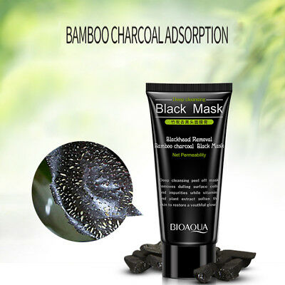 Bamboo Charcoal Adsorption Activated Black Mask Blackhead Removal Peel Off AU