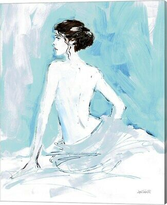 Nude II Blue by Anne Tavoletti, Canvas Wall Art, 16W x 20H