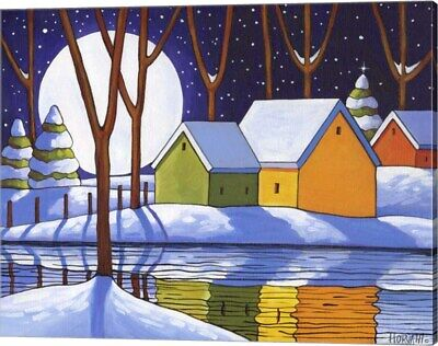Reflection Winter Night by Cathy Horvath-Buchanan, Canvas Wall Art, 20W x 16H