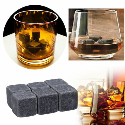 9 Pcs Whisky Ice Stones Wine Drinks Cooler Cubes Whiskey Rocks Granite Pouch New