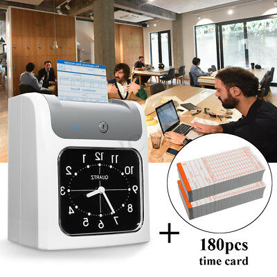 LCD Electronic Employee Time Attendance Time Clock Recorder + 180pcs