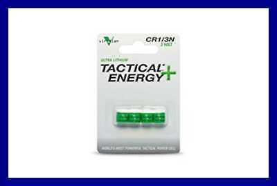 Viridian CR1/3N 3V Lithium Battery 4 Pack FREE SHIPPING GREEN No Size