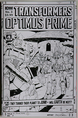 Transformers Optimus Prime #3 Variant SUB_A Cover - IDW - John Barber Kei Zama