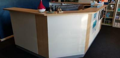 Reception Desk Used, seats 2-3 people, u-shaped, excellent condition