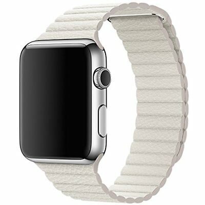 Genuine Apple Watch Leather Loop Strap MMAX2ZM/A 42mm Series 1/2/3  Large white