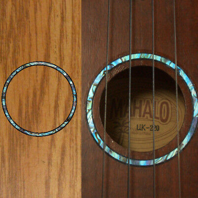 Ukulele Rosette (Abalone Blue) Purflinng Inlay Sticker Decal