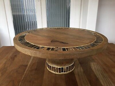 Temple And Webster Boho Mosaic Mango Wood Wooden Cake Stand 30cm RRP$125
