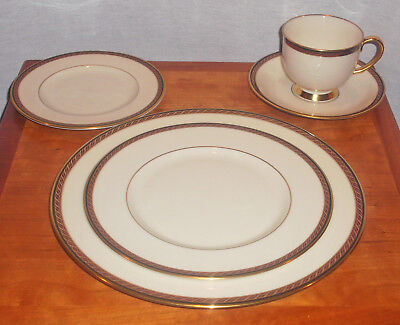 Discontinued Lenox Monroe Presidental Series 5 Piece Place Setting New