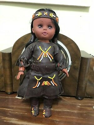 BML Fiat A LA Main Hand Made Canada Indian Doll With Papoose Vintage