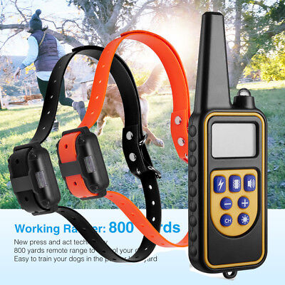 Waterproof Electric 800m Remote Pet Trainer Shock Training Collar for 1 2 3 Dog