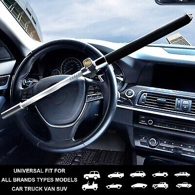 Car Steering Wheel Lock Heavy Duty Anti Theft Clamp 3 Keys Universal Vehicle UK