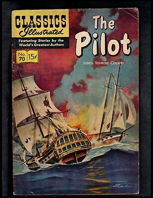 Classics Illustrated #70 G  Hrn156  The Pilot (Free Shipping On $15 Order!)