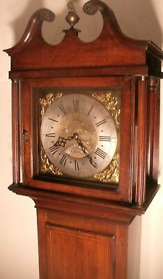"Antique Mahogany B / Dial "" Sheffield ""   Longcase / Grandfather Clock 77"" High"