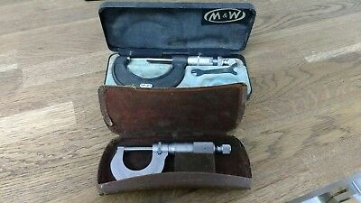 """Moore and Wright Micrometers. 0-1 Inch & 1""""-2""""."""