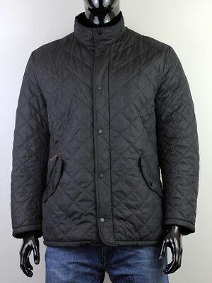 Barbour Men's Black Chelsea Sportquilt Quilted Jacket Size Xl