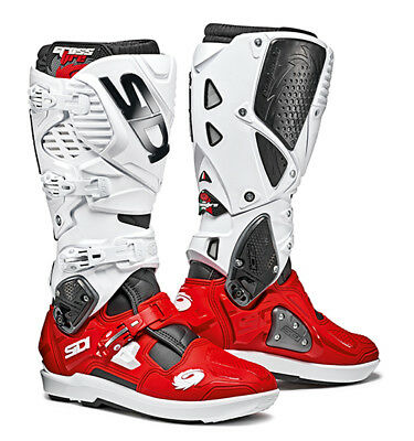 Sidi Crossfire 3 SRS Motocross Boots - Red / White SIZE EU 46 UK 11