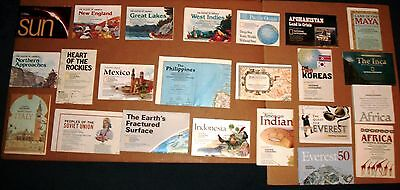 National Geographic insert maps 23 lot great condition USSR Mexico Italy Earth