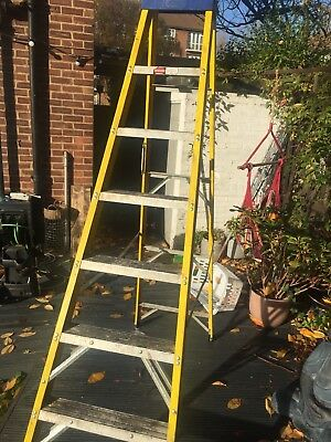 Excel Heavy Duty Fiberglass 6 Step Ladder Single Sided With 3 Step HopUp Ladder