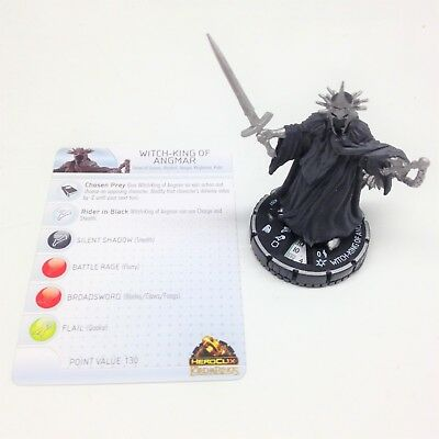 Heroclix Lord of the Rings set Witch-King of Angmar #207 Starter set fig w/card!