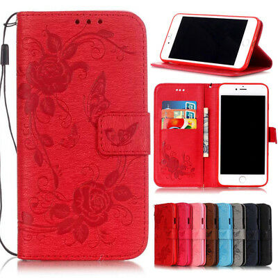 For Apple iPhone SE 5S 6S 7 8 New Flip Wallet Leather Case Cover Magnetic Luxury