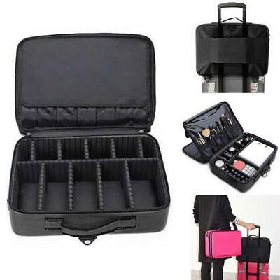 Professional Makeup Organizer Bag Cosmetic Case Travel Large Capacity Suitcase
