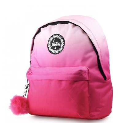 HYPE Pink Fade Pom Pom Backpack - Pink Schoolbag HYBAGS-018 **FREE Haribo