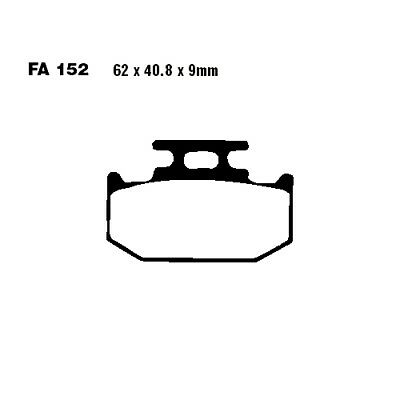 Brake Pads Sintered R EBC Mx For Kawasaki KLX 250 E 1993 - 1995