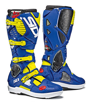 Sidi Crossfire 3 SRS Motocross Boots - Flo Yellow / Blue SIZE EU 42 UK 8