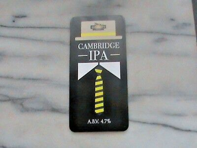 Elgood's Cambridge IPA real ale beer pump clip sign School Tie Theme