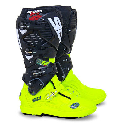 Sidi Crossfire 3 SRS Motocross Boots - TC222 Flo Yellow / Black SIZE EU 43 UK 9