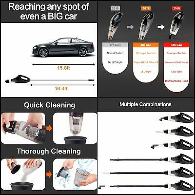 Portable Handheld Car Vacuum Cleaner 12V DC Wet Dry Mini Auto Cleaning Vehicle
