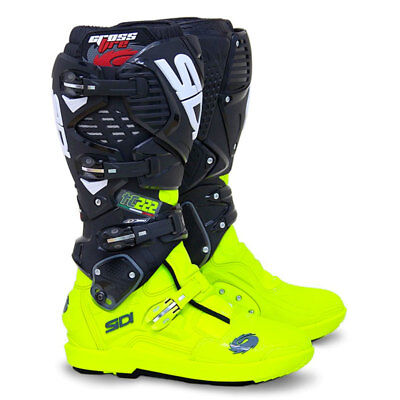 Sidi Crossfire 3 SRS Motocross Boots - TC222 Flo Yellow / Black SIZE EU 41 UK 7