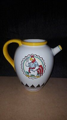 RARE CERAMIC Looney Tunes KITCHEN Foghorn Leghorn MILK Pitcher WATER Warner Bros