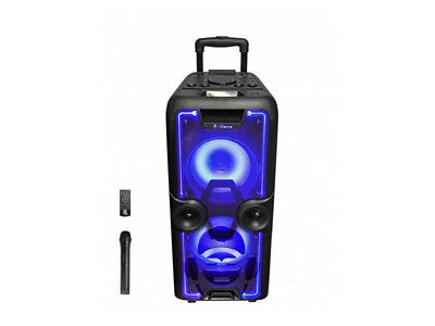 iDance MB 2000 MegaBox Sound Light System Partybox Bluetooth USB Karaoke SD