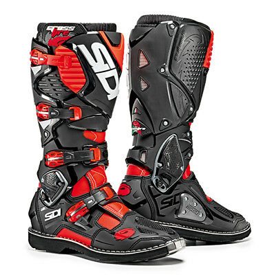 Sidi Crossfire 3 Motocross Boots  Flo Red / Black SIZE EU 42 UK 8 FREE SHIPPING