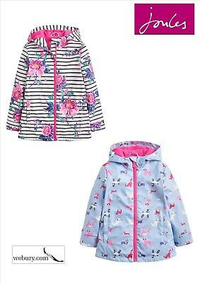 Joules Girls Raindance Rubber Coat - Sky Blue Dog - 5yrs - SALE 30% OFF