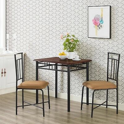 Small Dinette Sets Dining Set Bistro Kitchen Table Chairs Padded Seat Furniture
