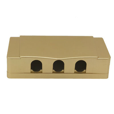 1Pcs Socket Switch Champagne 9 holes Waterproof Cover Box For Socket Panel Mount
