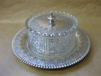 Antique Silver Plated & Glass Preserve Dish ~ James Beresford c.1861-1896