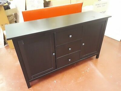 Ikea Hemnes Sideboard Black Brown Colour 100 00 Picclick Uk