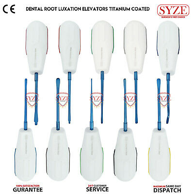 Dental Luxating Elevators Root Extracting Oral Surgery Instruments Blue Tips X10