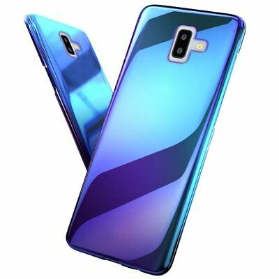 "CUSTODIA per SAMSUNG GALAXY J4+ / J6+ (PLUS) COVER ""BLUE RAY"" + PELLICOLA VETRO"