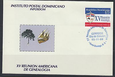 Dominican Republic 2009 Geneology Sc 1474  First Day Cover