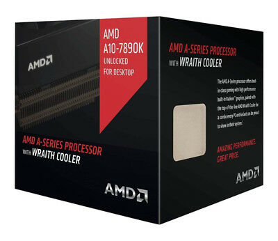New AMD A10 7890K A-Series APU with Radeon R7 Graphics & Wraith Cooler Boxed