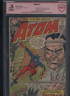 The Atom #1 CBCS 0.5 verified signed by GIL KANE 1962 not CGC SS