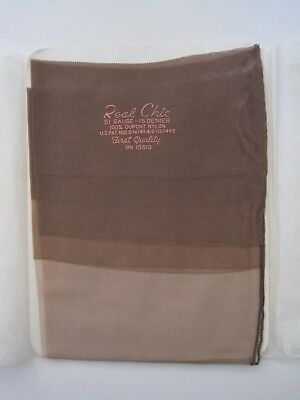 """A Boxed Pair Of Vintage """"real Chic"""" Seamed Stockings. Size 11."""